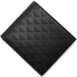 エンポリオアルマーニ 二つ折り財布 財布 メンズ PORTAFOGLIO LOGATO ブラック YEM122 YC043 80001 EMPORIO ARMANI