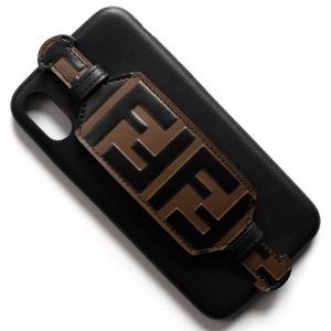 フェンディ iPhoneXケース メンズ レディース ブラック&マヤブラウン 7AR678 A6CD F13SV 2019年春夏新作 FENDI