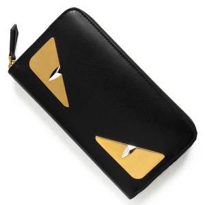 フェンディ 長財布 財布 メンズ レディース モンスター バッグ バグズ ブラック 8M0299 3IF F0KUR FENDI