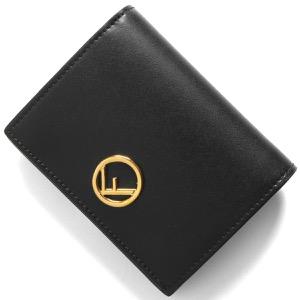 フェンディ 二つ折り財布 財布 レディース エフ イズ フェンディ ブラック&オーロソフト 8M0387 A0KK F0KUR 2020年春夏新作 FENDI