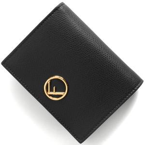 フェンディ 二つ折り財布 財布 レディース エフ イズ フェンディ ブラック&オーロソフト 8M0387 A18B F0KUR FENDI