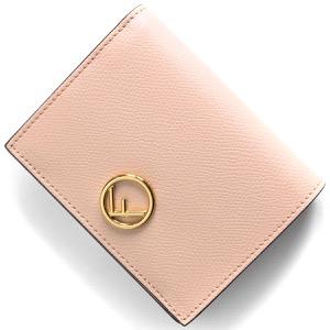 フェンディ 二つ折り財布 財布 レディース エフ イズ フェンディ ライトローズピンク&オーロソフト 8M0387 A18B F14N1 2019年秋冬新作 FENDI
