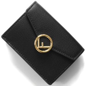フェンディ 三つ折り財布/ミニ財布 財布 レディース エフ イズ フェンディ ブラック&オーロソフト 8M0395 A18B F0KUR FENDI