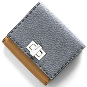 フェンディ 二つ折り財布 財布 レディース セレリア ピーカブー ヌーベブルー&ミーレベージュ&パラディオ 8M0399 SMT F15ZQ FENDI