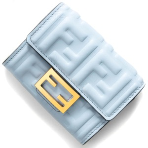 フェンディ カードケース/名刺入れ レディース ズッカ プラァシィドゥブルー&オーロソフト 8M0416 AAJD F1CCB FENDI