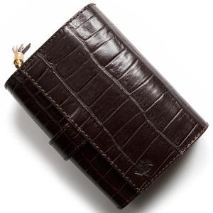 フェリージ 二つ折り財布 財布 メンズ レディース クロコ型押し モロダークブラウン 3500 SA 0002 FELISI