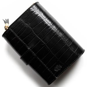 フェリージ 二つ折り財布 財布 メンズ レディース クロコ型押し ブラック 3500 SA 0003 FELISI