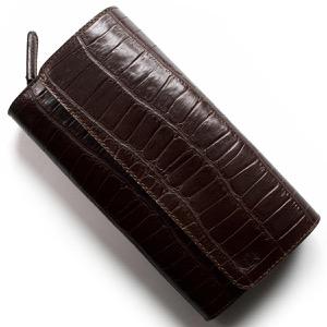 フェリージ 長財布 財布 メンズ クロコ型押し モロダークブラウン 447 SA 0002 FELISI