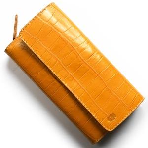 フェリージ 長財布 財布 メンズ レディース クロコ型押し マンゴオレンジ 447 SA 0015 FELISI
