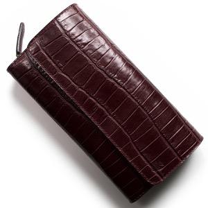 フェリージ 長財布 財布 メンズ レディース クロコ型押し ボルドー 447 SA 0026 FELISI
