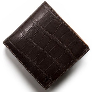 フェリージ 二つ折り財布 財布 メンズ クロコ型押し カードケースセット モロダークブラウン 452 SA 0002 FELISI
