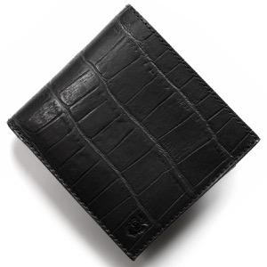 フェリージ 二つ折り財布 財布 メンズ クロコ型押し カードケースセット ブラック 452 SA 0003 FELISI