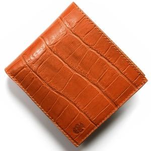 フェリージ 二つ折り財布 財布 メンズ クロコ型押し カードケースセット アランチョオレンジ 452 SA 0009 FELISI
