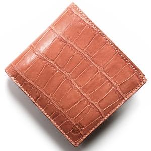 フェリージ 二つ折り財布 財布 メンズ レディース クロコ型押し カードケースセット ローザアンティークピンク 452 SA 0019 FELISI