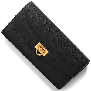 フェラガモ 長財布 財布 レディース ガンチーニ ブラック 220023 NERO 0742090 SALVATORE FERRAGAMO