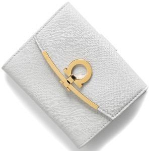 フェラガモ 二つ折り財布 財布 レディース ガンチーニ ガルライトグレー 22C877 GULL GREY 0747760 SALVATORE FERRAGAMO
