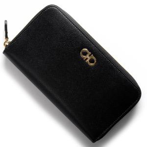 フェラガモ 長財布 財布 レディース ダブルガンチーニ DOUBLE GANCIO ブラック 22C882 NER 0674602 SALVATORE FERRAGAMO