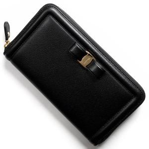 フェラガモ 長財布 財布 レディース ヴァラ リボン ブラック 22C908 NER 0673734 SALVATORE FERRAGAMO