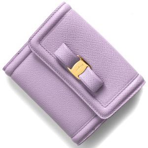 フェラガモ 二つ折り財布 財布 レディース ヴァラ リボン スプリングクロッカスパープル 22C911 SPRING CROCUS 0747777 SALVATORE FERRAGAMO