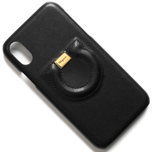 フェラガモ IPhoneXケース/スマートフォンケース レディース シティ ガンチーニ IPhoneX専用 ブラック 22D560 NERO 0704977 2019年秋冬新作 SALVATORE FERRAGAMO