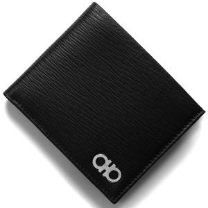フェラガモ 二つ折り財布 財布 メンズ リバイバル ダブル ガンチーニ ブラック&レッド 66A065 NERO RED 0685986 2018年春夏新作 SALVATORE FERRAGAMO