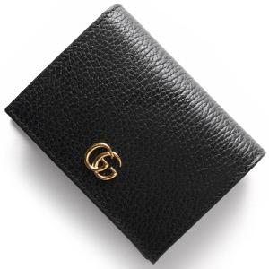 グッチ カードケース/二つ折り財布【札入れ】 レディース プチGGマーモント ブラック 456126 CAO0G 1000 GUCCI