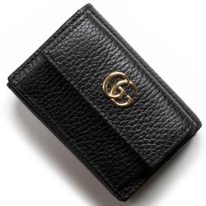グッチ 三つ折り財布/ミニ財布 財布 レディース GGマーモント ブラック 523277 CAO0G 1000 GUCCI