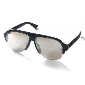 グッチ サングラス メンズ ブルー&ブラック&シルバー GG0172SA 004 ASI GUCCI