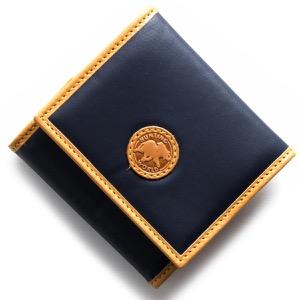 ハンティングワールド コインケース【小銭入れ】 財布 メンズ バチュー オリジン BATTUE ORIGIN ネイビー&ビンテージナチュラル 13 16A HUNTING WORLD