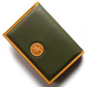 ハンティングワールド カードケース メンズ バチュー サーパス グリーン&ヴィンテージナチュラル 157 10A HUNTING WORLD