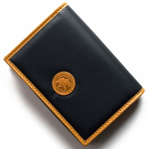 ハンティングワールド カードケース メンズ バチュー サーパス ネイビー&ビンテージナチュラル 157 16A HUNTING WORLD