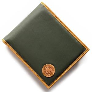 ハンティングワールド 二つ折り財布 財布 メンズ バチュー オリジン BATTUE ORIGIN グリーン&ヴィンテージナチュラル 310 10A HUNTING WORLD