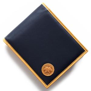 ハンティングワールド 二つ折り財布 財布 メンズ バチュー オリジン BATTUE ORIGIN ネイビー&ビンテージナチュラル 310 16A HUNTING WORLD