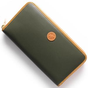 ハンティングワールド 長財布 財布 メンズ バチュー オリジン BATTUE ORIGIN グリーン&ビンテージナチュラル 827 1A0 HUNTING WORLD
