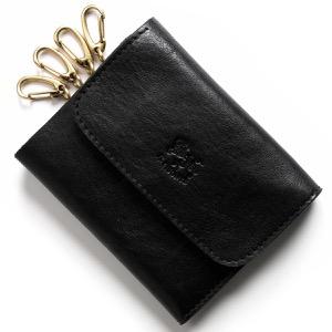 イルビゾンテ キーケース/三つ折り財布 メンズ レディース スタンダード ブラック C0445 MP 153 IL BISONTE