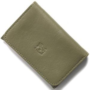 イルビゾンテ カードケース/名刺入れ メンズ レディース スタンダード オリーブグリーン C0470 EP 955 IL BISONTE