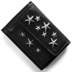 ジミーチュウ 三つ折り財布 財布 メンズ レディース ネモ スター スタッズ ブラック NEMO CST BLK JIMMY CHOO