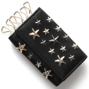 ジミーチュウ キーケース メンズ レディース ネプチューン NEPTUNE マルチ メタリック スタースタッズ MULIT METAL STARS ブラック NEPTUNE LTR BLK JIMMY CHOO