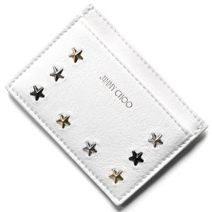 ジミーチュウ カードケース/クレジットカードケース レディース ノエラ マルチ メタル スター スタッズ トリム ホワイト&メタリックミックス NOELLA LTU 080298 WHITE METALLIC MIX JIMMY CHOO