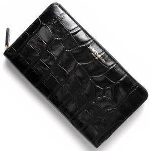 ジェイ&エムデヴィッドソン 長財布 財布 レディース エロンゲーテッド ジップ ウォレット ELONGATED ZIP WALLET ブラック 726710011 9990 J&M DAVIDSON
