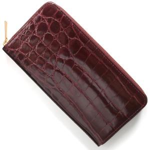 本革 長財布 財布 メンズ レディース クロコ グロスワインレッド CRS002HLG LWIN Leather