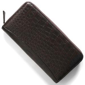 本革 長財布 財布 メンズ レディース クロコ ダークブラウン CRS002P DBR Leather