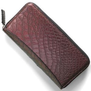 本革 長財布 財布 メンズ レディース クロコ ピンク&ゴールド CRS002P PKGD Leather
