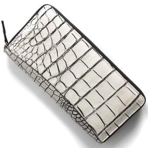 本革 長財布 財布 メンズ レディース クロコ バニラホワイト CRS002P VAN Leather