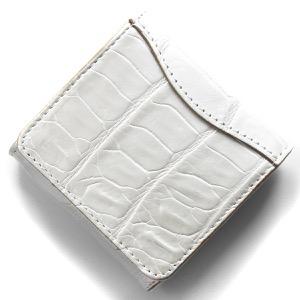 本革 コインケース【小銭入れ】 財布 レディース クロコ パールホワイト CRS1012 PWHT Leather