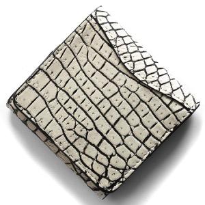 本革 コインケース【小銭入れ】 財布 レディース クロコ バニラホワイト CRS1012 VAN Leather