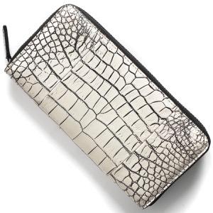 本革 長財布 財布 メンズ レディース クロコ バニラホワイト CRS1836 VAN Leather