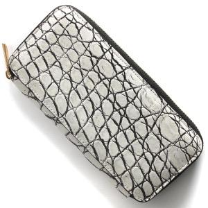 本革 長財布 財布 メンズ レディース クロコ バニラホワイト DRS163JG VAN Leather