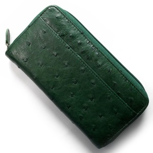 本革 長財布 財布 メンズ レディース オーストリッチ OSTRICH キプロスグリーン OKN1824H CGN Leather