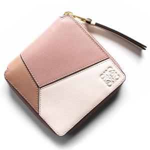 ロエベ 二つ折り財布 財布 レディース パズル スクエア ブラッシュピンクマルチトーン 122 88 30DM 9189 LOEWE